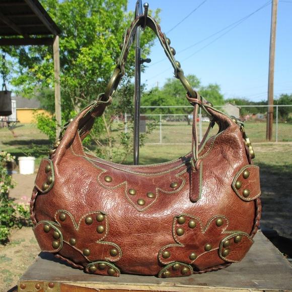 e5f6d16305 Isabella Fiore Handbags - Isabella Fiore Oasis Studded Distressed Bag